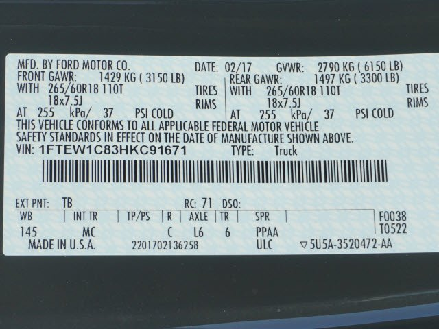 2017 F-150 SuperCrew Cab, Pickup #70917 - photo 10