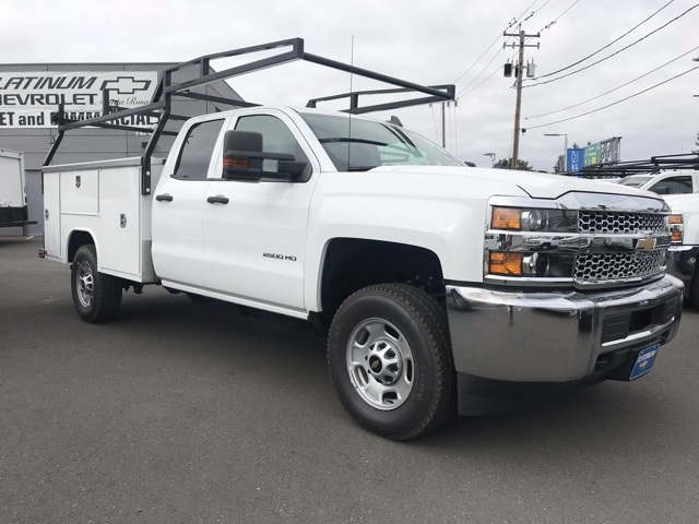 2019 Silverado 2500 Double Cab 4x4,  Harbor TradeMaster Service Body #CF10257 - photo 3
