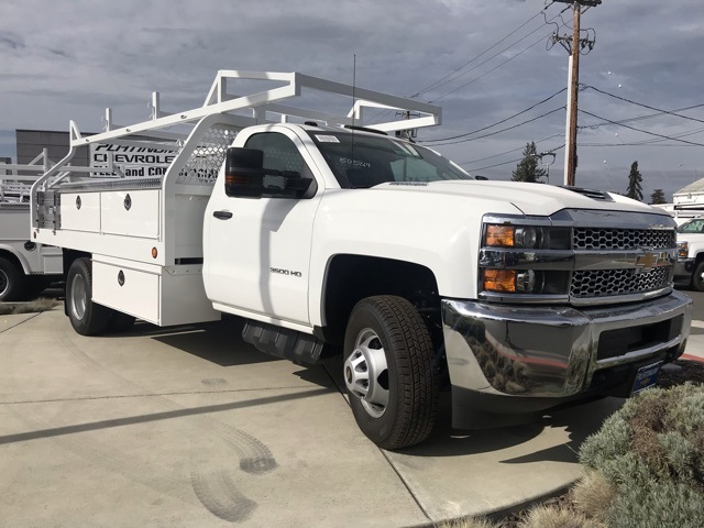 2019 Silverado 3500 Regular Cab DRW 4x2,  Royal Contractor Body #CF10260 - photo 4