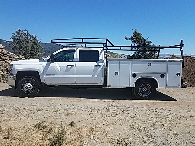 2016 Silverado 3500 Crew Cab DRW 4x4, Harbor Service Body #CF6991 - photo 3