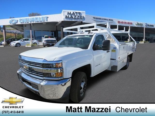 New 2018 Chevrolet Silverado 3500 Work Truck white exterior dark ash interior