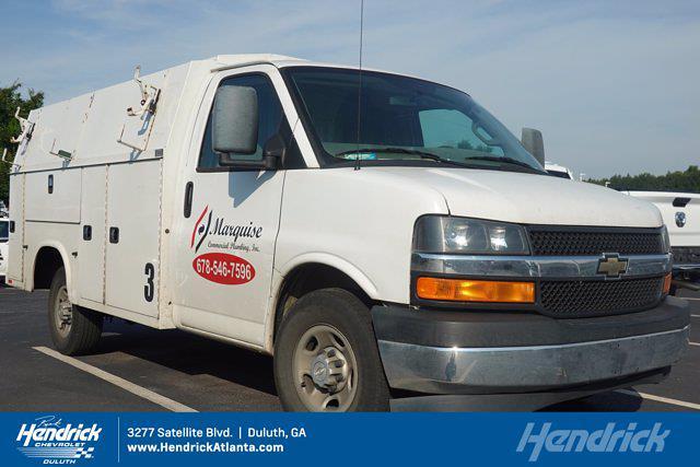 2017 Chevrolet Express 3500 4x2, Knapheide Service Utility Van #FM97918A - photo 1