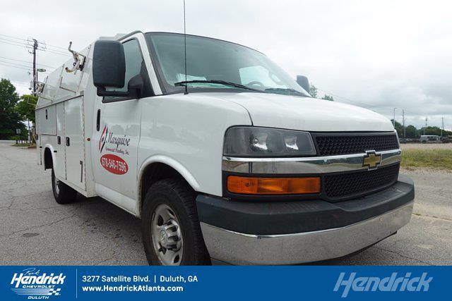 2017 Chevrolet Express 3500 4x2, Knapheide KUV Service Utility Van #FM98042A - photo 30