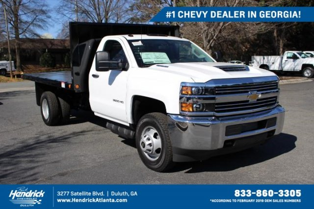 2018 Silverado 3500 Regular Cab Drw 4x4 Freedom Workhorse Platform Body Stock Jf121519