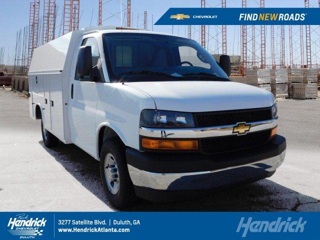 2017 Chevrolet Express 3500 4x2, Knapheide KUV Service Utility Van #FM98042A - photo 1