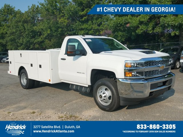 2019 Silverado 3500 Regular Cab Drw 4x4 Warner Select Pro Service Body Stock Mf106227