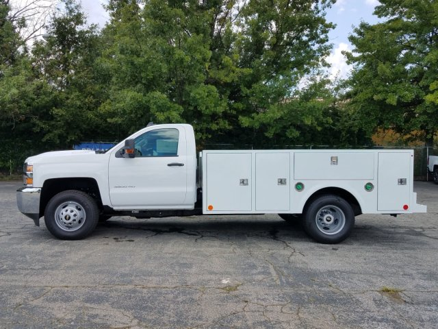2019 Silverado 3500 Regular Cab DRW 4x4,  Warner Service Body #MF108631 - photo 5