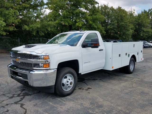 2019 Silverado 3500 Regular Cab DRW 4x4,  Warner Service Body #MF108631 - photo 6
