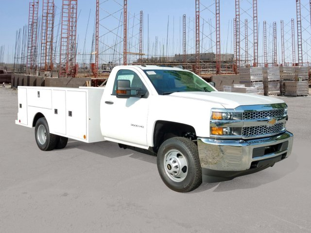 2019 Silverado 3500 Regular Cab DRW 4x2,  Warner Service Body #MF108714 - photo 4