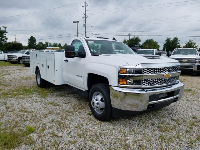 2019 Silverado 3500 Regular Cab DRW 4x4,  Warner Service Body #MF109568 - photo 4