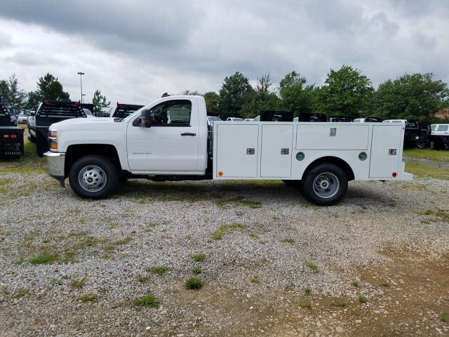 2019 Silverado 3500 Regular Cab DRW 4x4,  Warner Service Body #MF109568 - photo 8