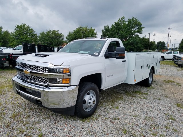 2019 Silverado 3500 Regular Cab DRW 4x4,  Warner Service Body #MF109568 - photo 9