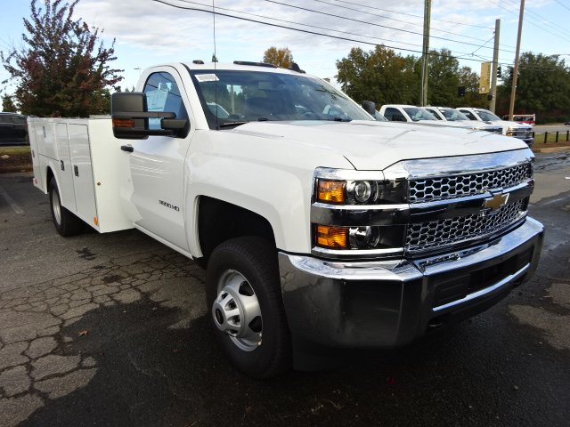 2019 Silverado 3500 Regular Cab DRW 4x4,  Warner Service Body #MF145438 - photo 6