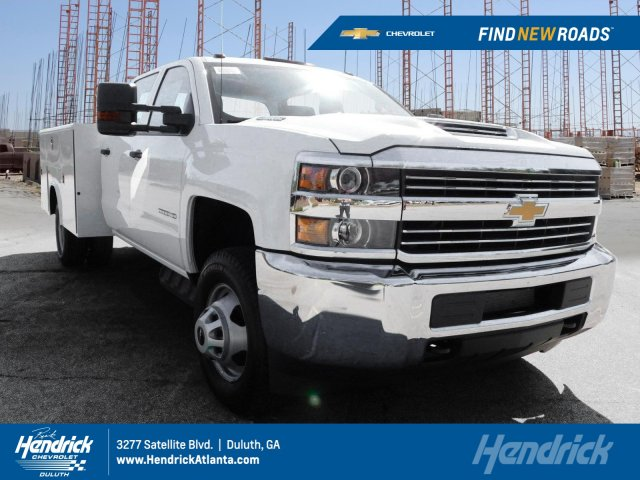 2017 Silverado 3500 Crew Cab Drw Reading Clic Ii Steel Service Body Mf217709
