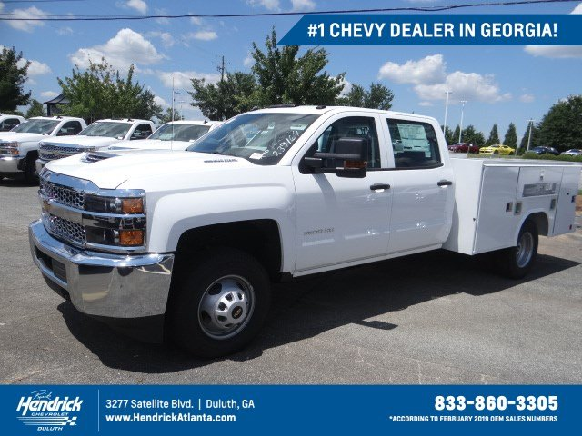 2019 Silverado 3500 Crew Cab Drw 4x4 Reading Sl Service Body Stock Mf239169