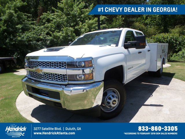 2019 Silverado 3500 Crew Cab Drw 4x4 Reading Sl Service Body Stock Mf243341