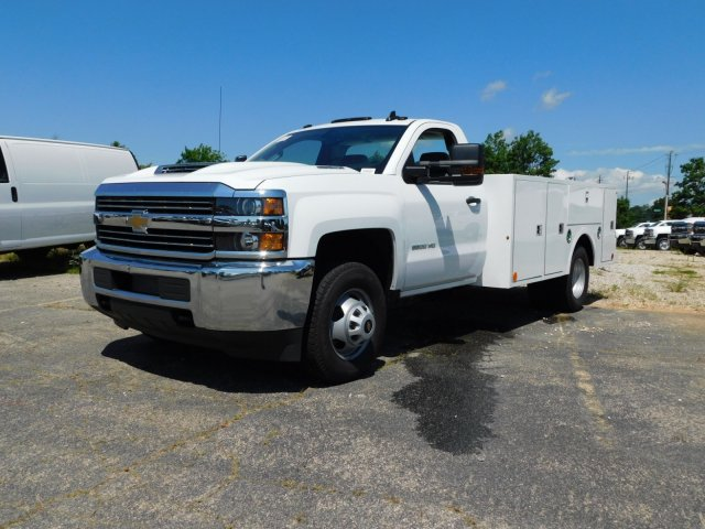 2018 Silverado 3500 Regular Cab DRW 4x4,  Warner Service Body #MF245465 - photo 7