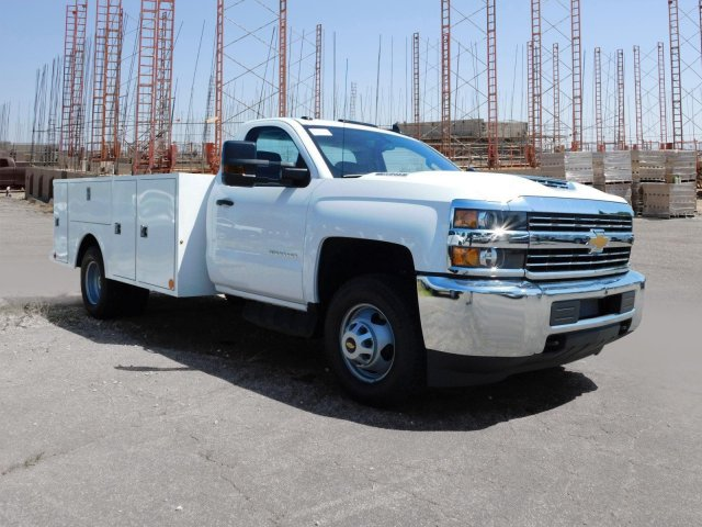 2018 Silverado 3500 Regular Cab DRW 4x4,  Warner Service Body #MF245465 - photo 33