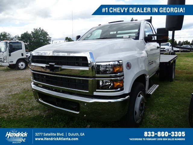 2019 Chevrolet Silverado 4500 Regular Cab DRW RWD, Commercial Truck & Van Equipment Platform Body #MH851361 - photo 1