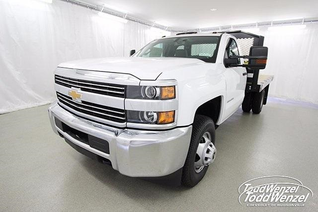 2017 Silverado 3500 Regular Cab DRW 4x4,  Monroe Work-A-Hauler II Platform Body #SH72269 - photo 5