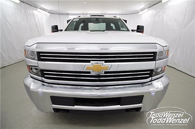 2017 Silverado 3500 Regular Cab DRW 4x4,  Monroe Work-A-Hauler II Platform Body #SH72269 - photo 4