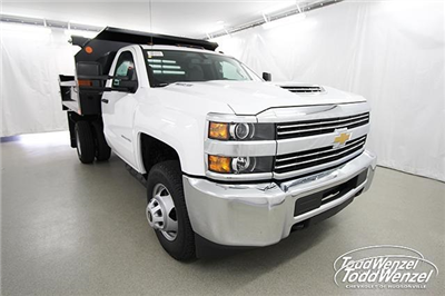 2018 Silverado 3500 Regular Cab DRW 4x4,  Monroe MTE-Zee Dump Body #SH81278 - photo 3
