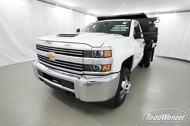 2018 Silverado 3500 Regular Cab DRW 4x2,  Monroe Dump Body #SH81404 - photo 7