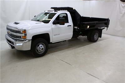 2018 Silverado 3500 Regular Cab DRW 4x4,  Knapheide Drop Side Dump Body #89977 - photo 8