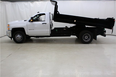 2018 Silverado 3500 Regular Cab DRW 4x4,  Knapheide Drop Side Dump Body #89977 - photo 9