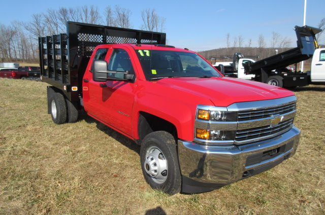 2017 Silverado 3500 Double Cab 4x4, Knapheide Stake Bed #B11444 - photo 3