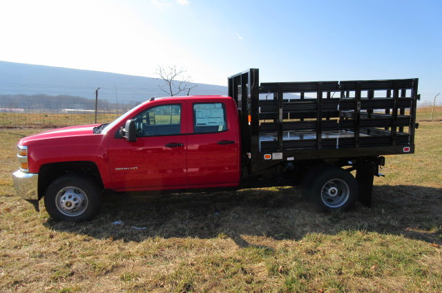 2017 Silverado 3500 Double Cab 4x4, Knapheide Stake Bed #B11444 - photo 6