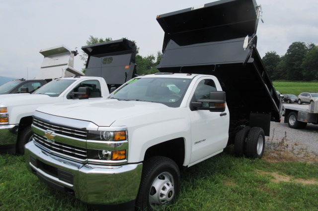 2017 Silverado 3500 Regular Cab DRW 4x4, Galion 100U Dump Body #B12200 - photo 1