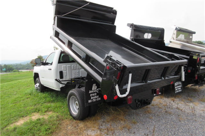 2017 Silverado 3500 Regular Cab DRW 4x4, Galion 100U Dump Body #B12200 - photo 2