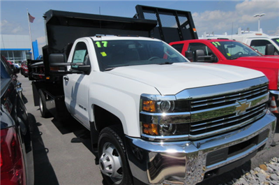 2017 Silverado 3500 Regular Cab 4x4, Rugby Eliminator LP Steel Dump Body #B12230 - photo 3