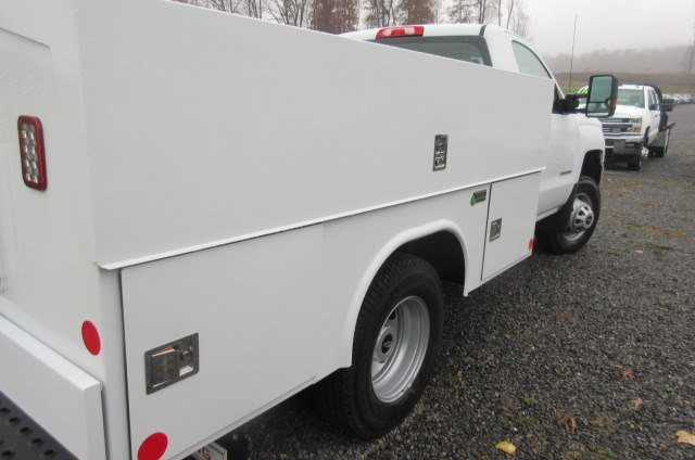2017 Silverado 3500 Regular Cab DRW 4x4, Reading Classic II Aluminum  Service Body #B12868 - photo 10