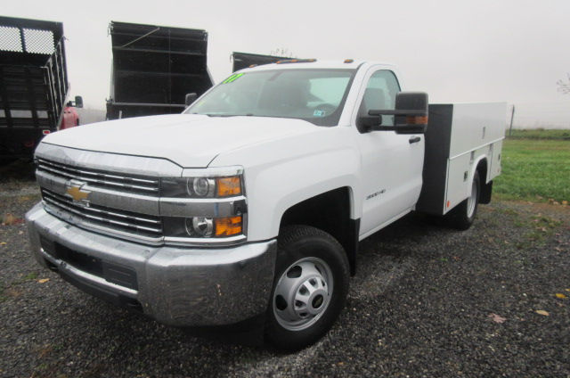 2017 Silverado 3500 Regular Cab DRW 4x4, Reading Classic II Aluminum  Service Body #B12868 - photo 1