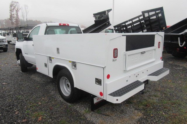 2017 Silverado 3500 Regular Cab DRW 4x4, Reading Classic II Aluminum  Service Body #B12868 - photo 2
