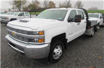 2018 Silverado 3500 Crew Cab DRW 4x4, Reading Redi-Dek Platform Body #B12933 - photo 1
