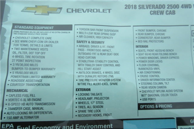 2018 Silverado 2500 Crew Cab 4x4,  Pickup #B12946 - photo 21