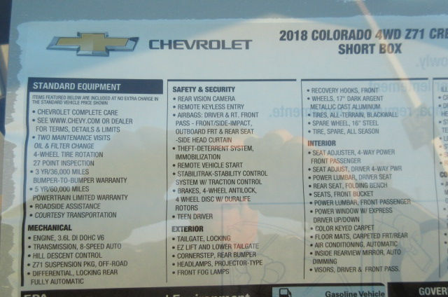 2018 Colorado Crew Cab 4x4, Pickup #B12970 - photo 25