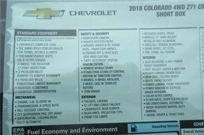 2018 Colorado Crew Cab 4x4, Pickup #B13035 - photo 27