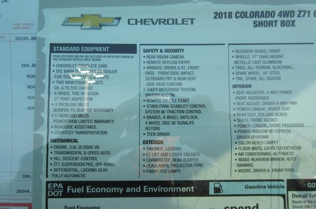 2018 Colorado Crew Cab 4x4,  Pickup #B13068 - photo 23