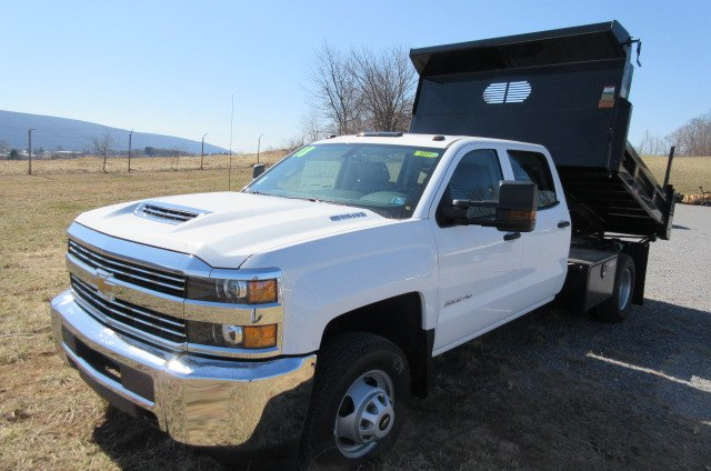 2018 Silverado 3500 Crew Cab DRW 4x4,  Rugby Eliminator LP Steel Dump Body #B13304 - photo 1
