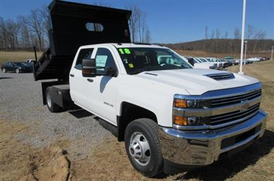 2018 Silverado 3500 Crew Cab DRW 4x4,  Rugby Eliminator LP Steel Dump Body #B13304 - photo 3
