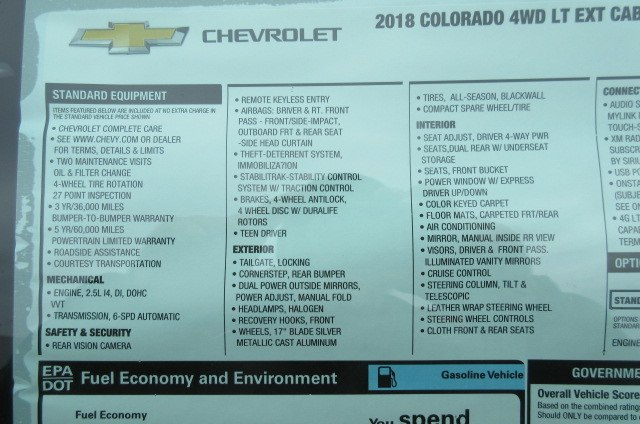 2018 Colorado Extended Cab 4x4,  Pickup #B13316 - photo 25