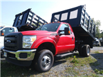 2016 F-350 Regular Cab DRW 4x4, Reading Steel Stake Bodies Stake Bed #FT16205 - photo 1