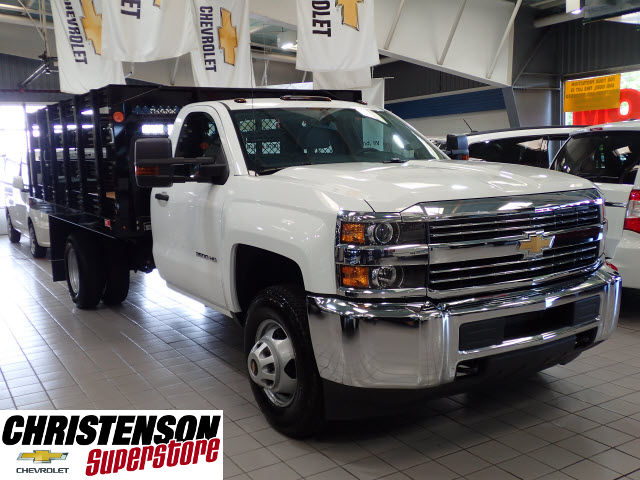 2016 Silverado 3500 Regular Cab 4x4, Stake Bed #60667 - photo 3