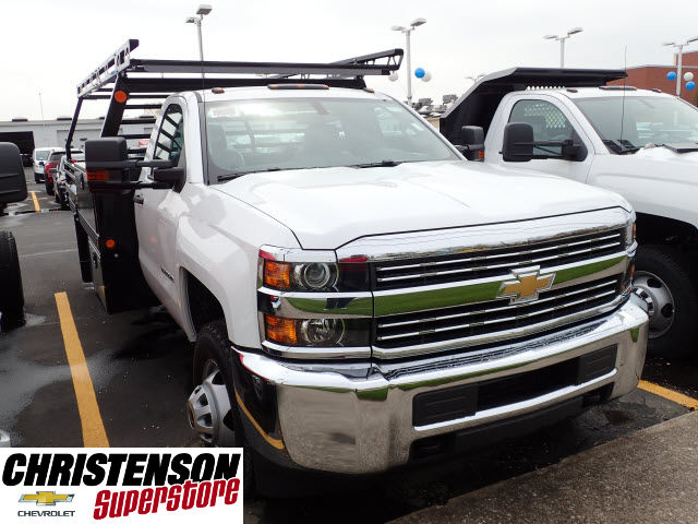 2017 Silverado 3500 Regular Cab 4x4, Freedom Contractor Body #70490 - photo 3