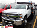 2017 Silverado 3500 Regular Cab 4x4, Freedom Contractor Body #70490 - photo 1