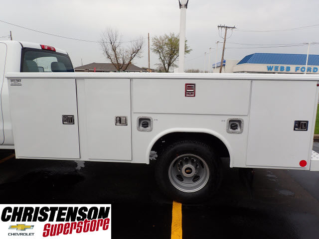 2017 Silverado 3500 Regular Cab 4x4, Reading Service Body #70666 - photo 5
